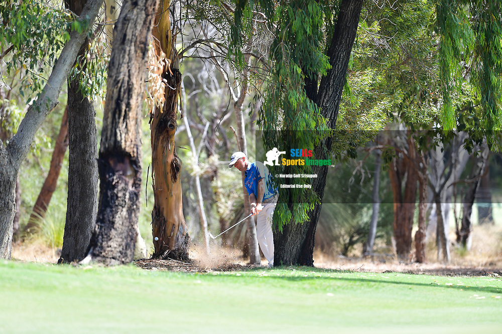 PERTH, AUSTRALIA - FEBRUARY 16: Michael Hoey (NIR) on the 1st during the 3rd round of the ISPS Handa World Super 6, Lake Karrinyup Country Club, Perth, Western Australia, on February 16, 2019. <br /> .<br /> .<br /> .<br /> (Photo by: Naratip Golf Srisupab/SEALs Sports Images)<br /> .<br /> Any image use must include a mandatory credit line adjacent to the content which should read: Naratip Golf Srisupab/SEALs Sports Images