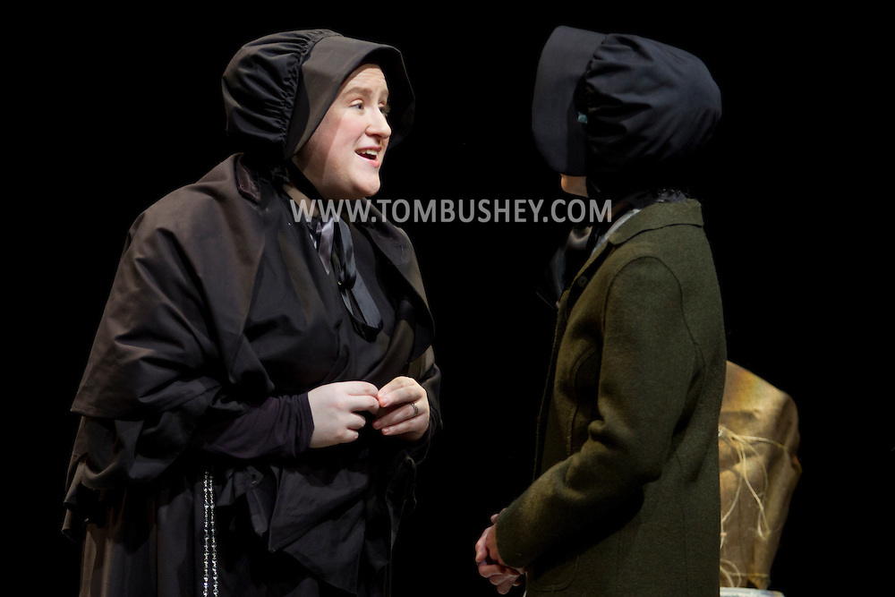 "Middletown, New York - Actors from the SummerStar Theatre at SUNY Orange perform in a production of ""Doubt: a Parable"" at Orange Hall Theatre on June 26, 2014."