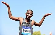 Mutaz Essa Barshim (QAT) celebrates after winning the high jump at 7-9¼ (2.37m) during IAAF Birmingham Diamond League meeting at Alexander Stadium on Sunday, June 5, 2016, in Birmingham, United Kingdom. Photo by Jiro Mochizuki