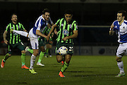 Lyle Taylor of AFC Wimbledon in action during the Sky Bet League 2 match between Bristol Rovers and AFC Wimbledon at the Memorial Stadium, Bristol, England on 8 March 2016. Photo by Stuart Butcher.