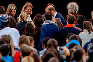 THE HAGUE - Queen Maxima is in the Peace Palace at the opening ceremony of the conference One Young World The Hague. At this international congress 1,800 young leaders come together to debate and work on innovative solutions to global problems. copyright robin utrecht