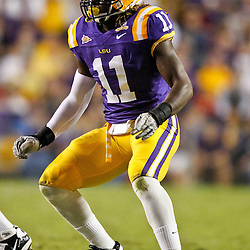 November 13, 2010; Baton Rouge, LA, USA;LSU Tigers linebacker Kelvin Sheppard (11) on the field during the first half against the Louisiana Monroe Warhawks at Tiger Stadium.  Mandatory Credit: Derick E. Hingle