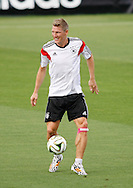 Bastian Schweinsteiger of Germany in action during the Germany training session at the Est&aacute;dio S&atilde;o Janu&aacute;rio, Rio de Janeiro, ahead of tomorrow's World Cup Final. <br /> Picture by Andrew Tobin/Focus Images Ltd +44 7710 761829<br /> 12/07/2014