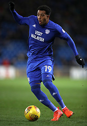 "Cardiff City's Nathaniel Mendez-Laing during the Sky Bet Championship match at The Den, London. PRESS ASSOCIATION Photo. Picture date: Friday December 29, 2017. See PA story SOCCER Cardiff. Photo credit should read: Nick Potts/PA Wire. RESTRICTIONS: EDITORIAL USE ONLY No use with unauthorised audio, video, data, fixture lists, club/league logos or ""live"" services. Online in-match use limited to 75 images, no video emulation. No use in betting, games or single club/league/player publications."