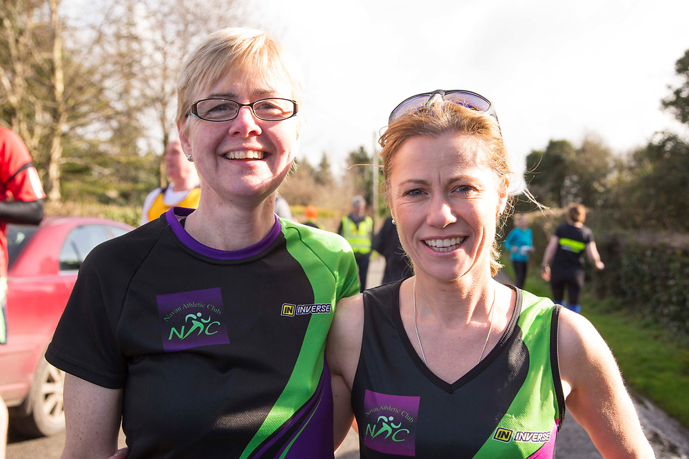 12/03/2017, Bohermeen AC 10k road Race &amp; Half Marathon<br /> Pictured at the event, L-R, Treasa Lynch &amp; Treasa Cromwell (Navan AC)<br /> <br /> Photo: David Mullen / www.quirke.ie &copy;John Quirke Photography, Unit 17, Blackcastle Shopping Cte. Navan. Co. Meath. 046-9079044 / 087-2579454.<br /> ISO: 250; Shutter: 1/250; Aperture: 7.1; <br /> File Size: 2.5MB<br /> Actuations:
