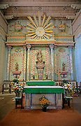 Altar Inside the Church at the Mission San Miguel