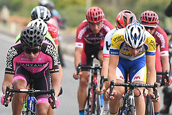 October 11, 2018 - Marmaris, Turkey - Aldemar Reyes Ortega (Left) and Kenneth Van Rooy (Right) lead a seven men breakaway during the third stage - the Troy Stage 137.2km Fethiye - Marmaris, of the 54th Presidential Cycling Tour of Turkey 2018. .On Thursday, October 11, 2018, in Marmaris, Turkey. (Credit Image: © Artur Widak/NurPhoto via ZUMA Press)