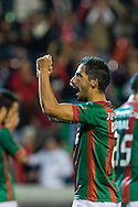 Portugal, FUNCHAL : Maritimo's Portuguese defender João Diogo celebrates during Portuguese League football match Maritimo vs F.C. Porto at Barreiros Stadium in Funchal on January  25, 2015. PHOTO/ GREGORIO CUNHA