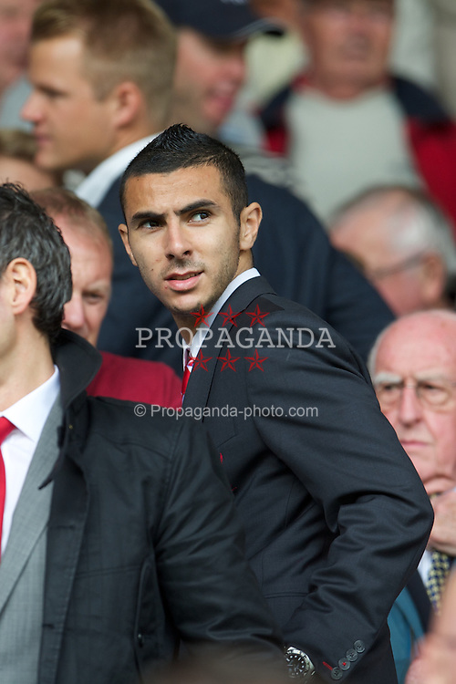 LIVERPOOL, ENGLAND - Sunday September 2, 2012: Liverpool's new signing Oussama Assaidi before the Premiership match against Arsenal at Anfield. (Pic by David Rawcliffe/Propaganda)