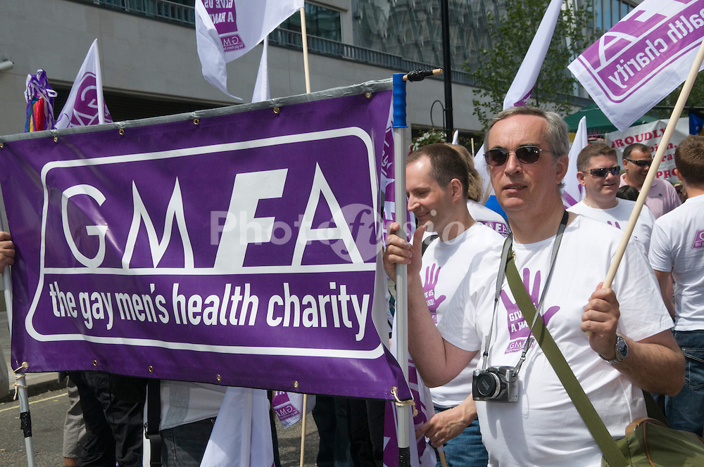Gay Pride London 2008 UK, GMFA; gay men's health charity