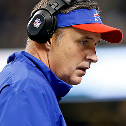 Oct 27, 2013; New Orleans, LA, USA; Buffalo Bills head coach Doug Marrone during the first quarter of a game against the New Orleans Saints at Mercedes-Benz Superdome. Mandatory Credit: Derick E. Hingle-USA TODAY Sports