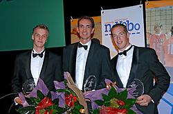 08-10-2006 VOLLEYBAL: GALA 2006: DOETINCHEM<br /> In de schouwburg van Doetinchem werd het volleybalgala 2006 gehouden /  Kristian van der Wel, Jan Willem Snippe en Peter Blange <br /> ©2006-WWW.FOTOHOOGENDOORN.NL