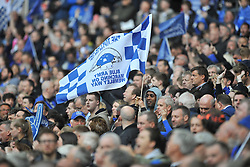 EVERTON FANS, Manchester United v Everton, The Emirates FA Cup Semi Final Wembley Stadium, Saturday 23rd April 2016, <br /> (Score 2-1), Photo:Mike Capps