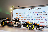 The 2015 Sahara Force India F1 Team livery is revealed.<br /> Sahara Force India F1 Team Livery Reveal, Soumaya Museum, Mexico City, Mexico. Wednesday 21st January 2015.