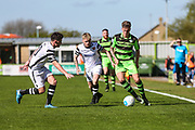 Forest Green Rovers Charlie Cooper(20) on the ball during the Vanarama National League match between Forest Green Rovers and Maidstone United at the New Lawn, Forest Green, United Kingdom on 22 April 2017. Photo by Shane Healey.