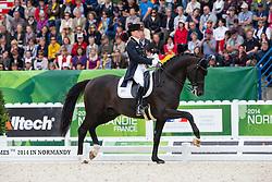 Kristina Sprehe, (GER), Desperados FRH - Grand Prix Special Dressage - Alltech FEI World Equestrian Games™ 2014 - Normandy, France.<br /> © Hippo Foto Team - Leanjo de Koster<br /> 25/06/14