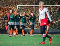 TILBURG  - hockey-  Were Di komt op voorsprong, nadat Willemijn Engels (WereDi) heeft gescoord,    tijdens de wedstrijd Were Di-MOP (1-1) in de promotieklasse hockey dames. COPYRIGHT KOEN SUYK