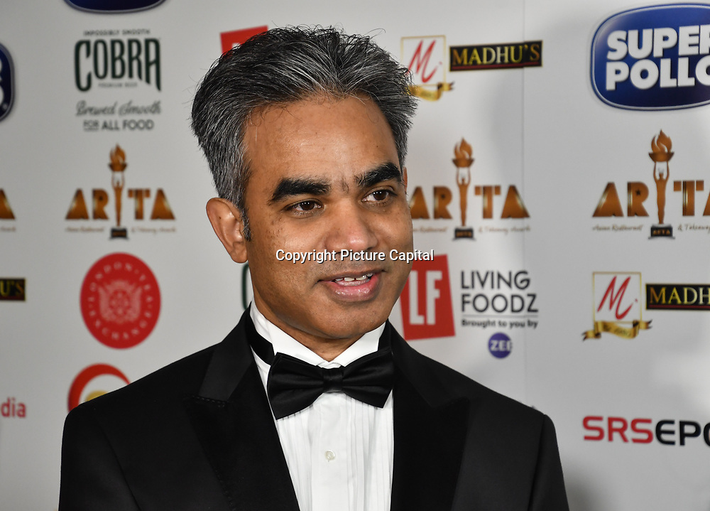Mohammad Munim founder of ARTA attend at Asian Restaurant & Takeaway Awards | ARTA 2018 at InterContinental London - The O2, London, UK. 30 September 2018.