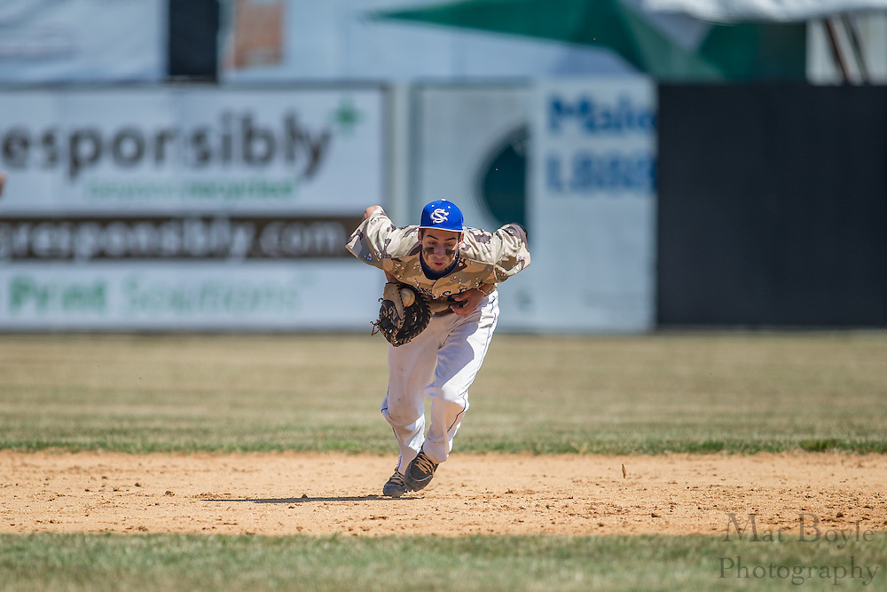 Sussex County Community College Freshman Infielder/Right Handed Pitcher Kenny Costa (7) - Community College of Morris vs Sussex Community College at Skylands Park in Frankford, NJ on Saturday April 12, 2014. (photo / Mat Boyle)