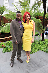 DAVID GRANT and CARRIE GRANT at the 2012 RHS Chelsea Flower Show held at Royal Hospital Chelsea, London on 21st May 2012.