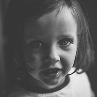 Female child close up