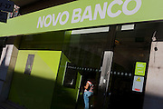A customer uses an indoor ATM from Novo Banco, on 14th July 2016, in Lisbon, Portugal. Novo Banco is a Portuguese bank introduced on 4 August 2014 by the Bank of Portugal to rescue assets and liabilities of Banco Espírito Santo.(Photo by Richard Baker / In Pictures via Getty Images)