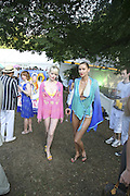 Kara Searle and Sasha Volkova, Conservative Party, Summer party, Royal Hospital Chelsea, Royal Hospital Road, London, SW3,3 July 2006. ONE TIME USE ONLY - DO NOT ARCHIVE  © Copyright Photograph by Dafydd Jones 66 Stockwell Park Rd. London SW9 0DA Tel 020 7733 0108 www.dafjones.com