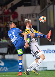 24.04.2019, TGW Arena, Pasching, AUT, 1. FBL, LASK vs SK Puntigamer Sturm Graz, Meistergruppe, 27. Spieltag, im Bild v.l. Lukas Spendlhofer (SK Puntigamer Sturm Graz), Joao Klauss de Mello (LASK) // during the tipico Bundesliga Master group, 27th round match between LASK and SK Puntigamer Sturm Graz at the TGW Arena in Pasching, Austria on 2019/04/24. EXPA Pictures © 2019, PhotoCredit: EXPA/ Reinhard Eisenbauer
