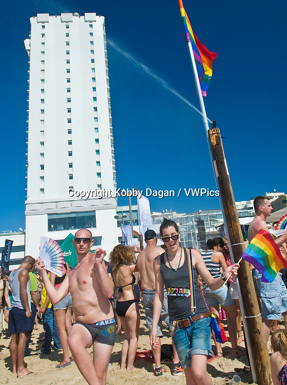 Beach party at Gordon beach followed the annual Gay pride in Tel Aviv