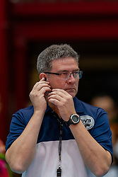 04-08-2019 ITA: FIVB Tokyo Volleyball Qualification 2019 / Netherlands, - Italy Catania<br /> last match pool F in hall Pala Catania between Netherlands - Italy for the Olympic ticket. Italy win 3-0 and take the ticket to the Olympics / Referee Pedro Fabian Concia