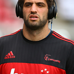 DURBAN, SOUTH AFRICA - MARCH 26: Samuel Whitelock of the BNZ Crusaders during the Super Rugby match between Cell C Sharks and BNZ Crusaders at Growthpoint Kings Park on March 26, 2016 in Durban, South Africa. (Photo by Steve Haag)<br /> <br /> images for social media must have consent from Steve Haag