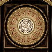 Latvian National Opera - ceiling, Riga, Latvia (July 2005)