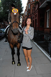 ZOE GRIFFIN at a party to celebrate the 21st birthday of one of their horses Leopold, held at 35 Sloane Gardens, London W1 on 10th September 2007.<br />