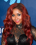 Nicole 'Snooki' Polizzi attends the 24th Annual GLAAD Media Awards at the Marriott Hotel in New York City, New York on March 16, 2013.