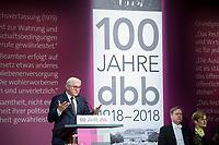 29 NOV 2018, BERLIN/GERMANY:<br /> Festakt mit Bundespraesident Steinmeier anl. des 100. Gruendungsjubilaeums des Beamtenbunds, dbb forum berlin<br /> IMAGE: 20181129-01-122<br /> KEYWORDS;&acute;: Gr&uuml;ndung, Jubil&auml;um,