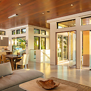 Patrick Edinger of Edinger Architects has given a compact Zapo Street, Del Mar property the Frank Lloyd Wright treatment.