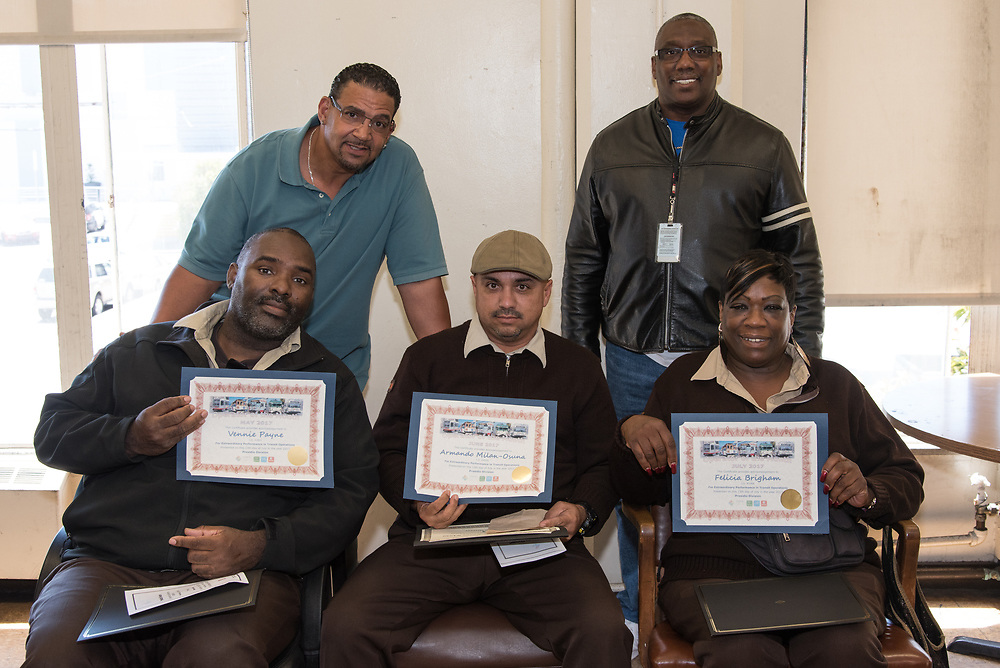 Peer Assistants Joe Williams and Anthony Brown Presenting Awards at Presidio Division Operator of the Month Ceremony | July 12, 2017