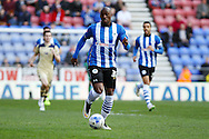 Marc-Antoine Fortune of Wigan Athletic in action. Skybet football league championship match , Wigan Athletic v Leeds Utd at the DW Stadium in Wigan, Lancs on Saturday 7th March 2014.<br /> pic by Chris Stading, Andrew Orchard sports photography.