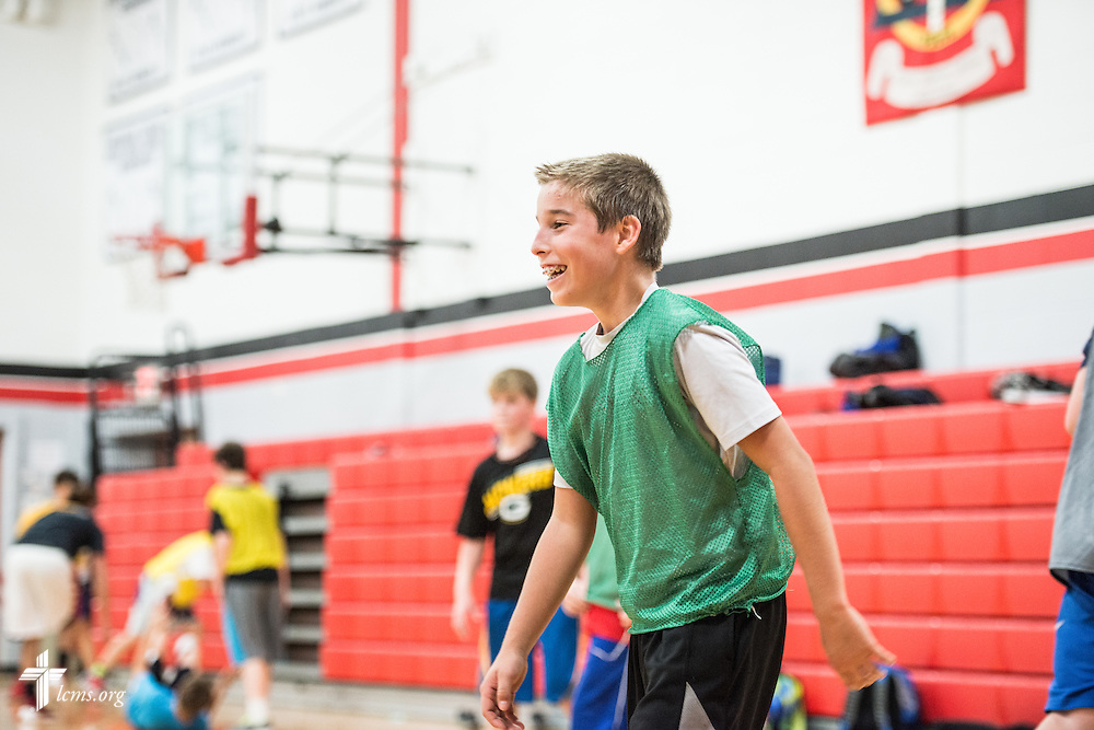 Reid McGraw tries out for a basketball team on Thursday, Oct. 27, 2016, at First Immanuel Lutheran School in Cedarburg, Wis. LCMS Communications/Erik M. Lunsford