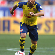 Santi Cazorla, Arsenal, in action during the New York Red Bulls Vs Arsenal FC,  friendly football match for the New York Cup at Red Bull Arena, Harrison, New Jersey. USA. 26h July 2014. Photo Tim Clayton