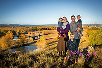 Allyson, Mike, Harrison (3),  twins, Ainsley and Grayson (21 months) McLean family photo session at Sandstone Ranch in Longmont, CO on Oct. 15, 2017.<br /> Photography by: Marie Griffin Dennis/Marie Griffin Photography<br /> mariegriffinphotography.com<br /> mariefgriffin{@}gmail.com