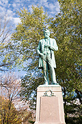 Statue of civil war general and 18th president Ulysses S. Grant. Galena Illinois USA,