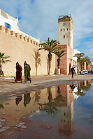 Maroc, Essaouira, Patrimoine mondial de l'UNESCO, les remparts // Morocco, Medina of Essaouira, Atlantic coast, Unesco world heritage, city wall