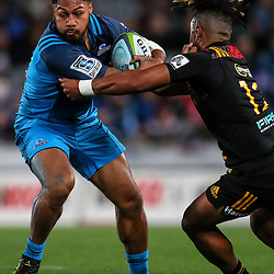 George Moala of the Blues during the Super Rugby Match between the Blues and the Chiefs at Eden Park in Auckland, New Zealand on Friday, 26 May 2017. Photo: Simon Watts / www.lintottphoto.co.nz