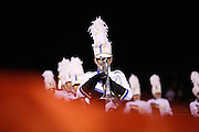 The Milpitas High School marching band performs during halftime during homecoming against Saratoga at Milpitas High School in Milpitas, California, on October 11, 2013.  Milpitas beat Saratoga 54-14. (Stan Olszewski/SOSKIphoto)