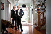 Justine Troy and Geoff Ross, the founders of 42 Below, in their Herne Bay home.