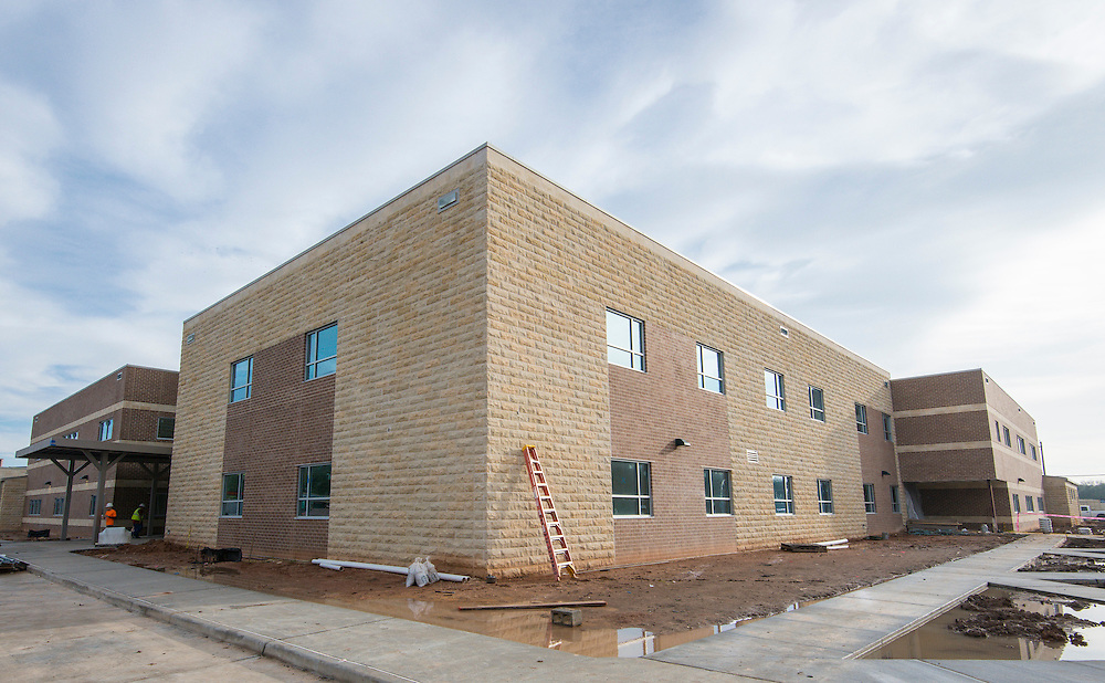 Construction at Worth ing High School, January 8, 2016.