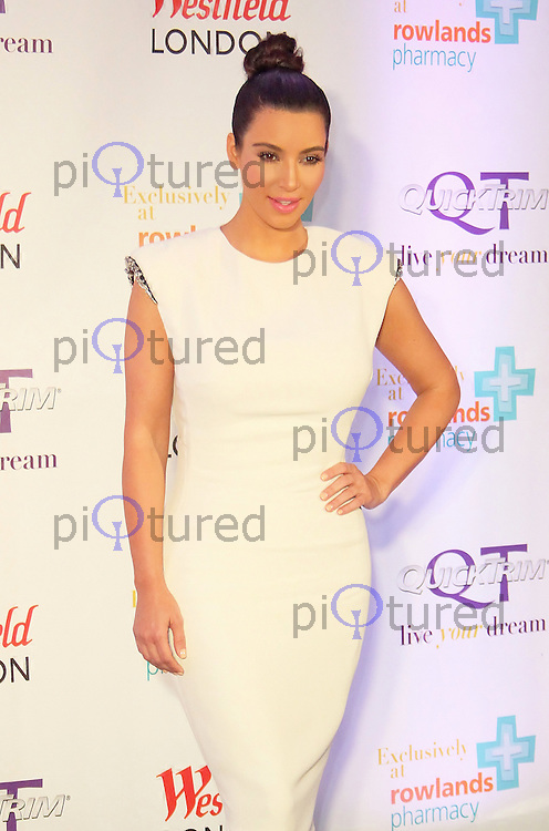 Kim Kardashian celebrates the launch of her weight management product, QuickTrim in the UK, Westfield London Shopping Centre, Shepherds Bush, London, UK. May 19, 2012. (Photo by Brett Cove)