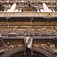 Italian building with decorative exterior in St Marks Square, Venice