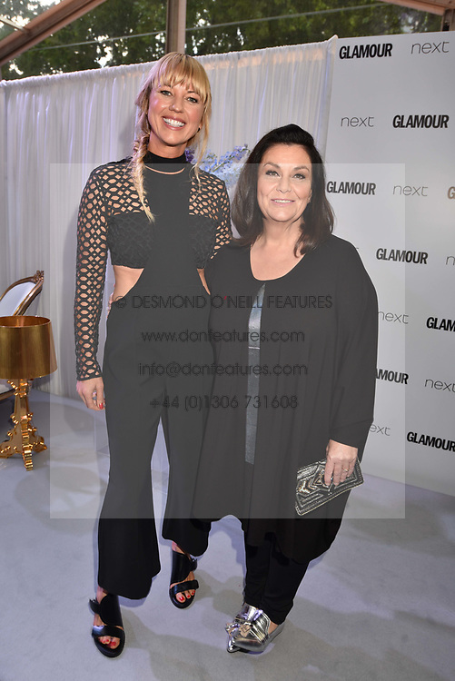 Left to right, Sara Cox and Dawn French at the Glamour Women of The Year Awards 2017 in association with Next held in Berkeley Square Gardens, London England. 6 June 2017.